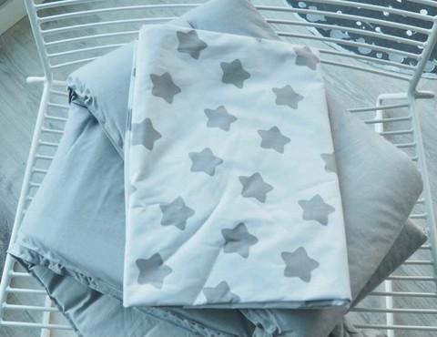 Reunapehmuste, pussilakana ja tyynynliina, Eimi, Pure Grey + Tähti 1.