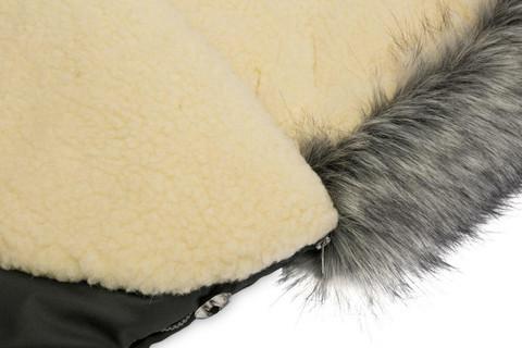 Lämpöpussi, Eskimo - VILLA - grafiitti - 100cm