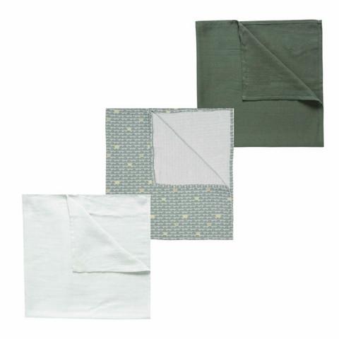 Harsopaketti, 3 kpl, LUMA, Bow Deco, 70x70cm