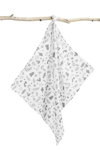 Kuvioidut harsot, 70x80, LUX - Harmaat metsäneläimet