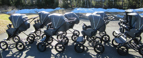 Alfa -tuplaratas, harmaa, normaali nelipyöräinen