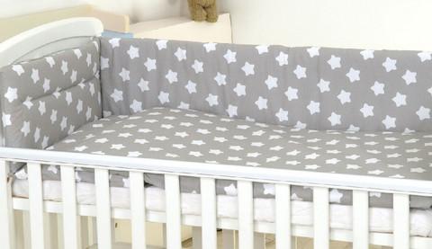 Reunapehmuste, pussilakana ja tyynynliina, Eimi, valkoinen tähti 2. - 360cm