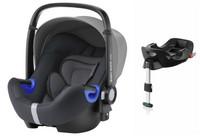 Britax Baby-Safe I-SIZE 2 -turvakaukalo + Flex -Base, Storm Grey