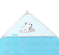 Huppupyyhe, bambu, sininen / jääkarhu