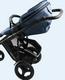 Britax Smile 2 - työntöaisan ja turvakaaren nahkapäälliset, musta