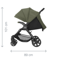 Britax B-AGILE 4 PLUS Travel System: Rattaat, turvakaukalo + jalusta