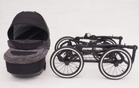 Ilmakumipyörät, Retro, 40cm, musta vanne, valkoinen yksityiskohta