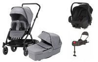 Britax Go Next 2 - Grey Melange / Black - Travel System
