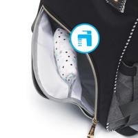Hoitolaukku / hoitoreppu, OSLO STYLE, harmaa