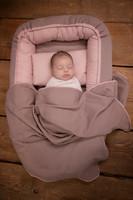 Vauvan kudottu peite, vauvapeite, Rose, 110cm x 72cm (Pure Rose)