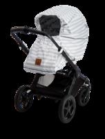 Ratas / vaunusadesuoja, Babywallaby, harmaa-valkoraidallinen
