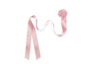 Klione - kasterusetti, kastenauha, helmillä - vaaleanpunainen