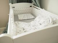 Reunapehmuste, pussilakana ja tyynynliina, Eimi, pieni harmaa tähti - 360cm