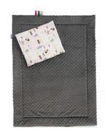 Vauvan Minkypeite + tyyny, tummaharmaa/siili