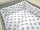 Reunapehmuste 140x70cm pinnasänkyyn, Eimi, valkoinen - harmaa tähti 1. -420cm