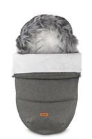 Lämpöpussi, Indiana, karvareunuksella, Grey Melange (graphite), 100cm