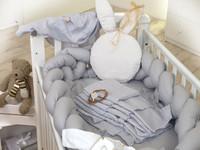 Reunapehmuste Eimi, Letti, pinnasänkyyn, 340cm - Pure Grey