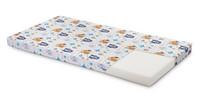 Pinnasängyn patja, vaahtomuovi, 120 x 60 x 6cm, Metsäneläimet/siniset