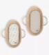 Aluslakanasetti, muslin/puuvillasatiini, 80x30cm, Mooses -koriin