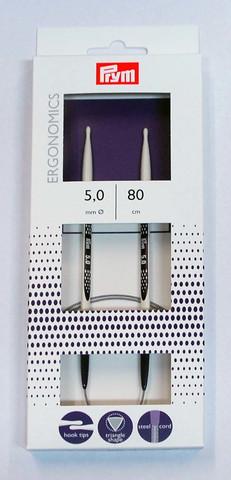 Prym Ergonomics pyöröpuikko 80 cm, 3,0 - 12 mm