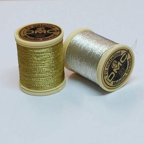 DMC kulta- / hopealanka kirjontaan