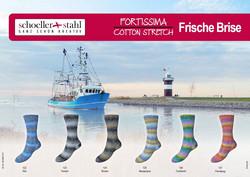 Schoeller+Stahl Fortissima Cotton Stretch Frische Brise -kesäsukkalanka