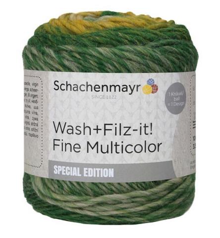 Schachenmayr Wash+Filz-it! Fine Multicolor - huopuva villalanka