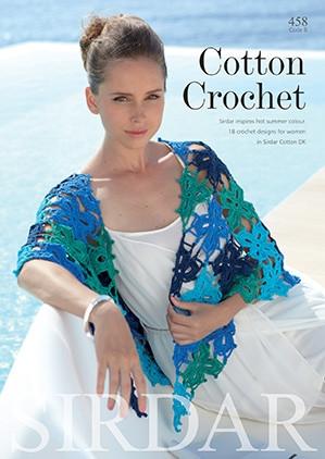 Sirdar Cotton Crochet Book 458 -lehti
