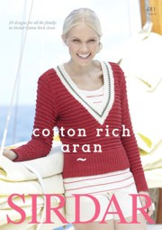 Sirdar Cotton Rich Aran Book 481 -lehti