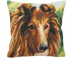 ristipistotyyny-kirjontatyo-kirjottava-tyyny-lassie-collie-koira-collection-d-art-cda