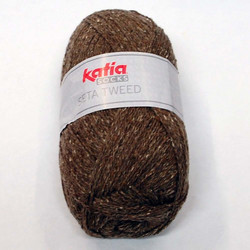 Katia Seta Tweed Socks, ruskea