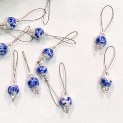KnitPro Blooming Blue kukka-silmukkamerkki
