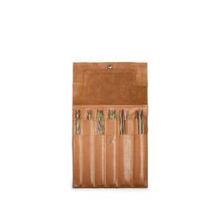 Muud Oslo puikkokotelo sukkapuikoille, nahkaa