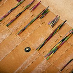 Muud Oslo XL puikkokotelo sukkapuikoille, nahkaa