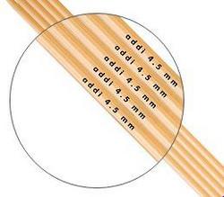 Addi pyöröpuikko, bambu, 50 cm, 2.5 - 6.0 mm