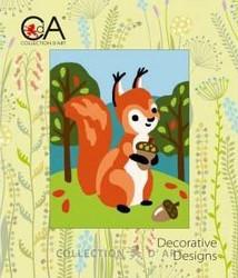 Collection d`Art Lasten kanavatyö -paketti, Metsän eläimet