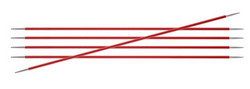KnitPro Zing sukkapuikot, 15 cm, 2.0 - 4.0 mm, alumiini