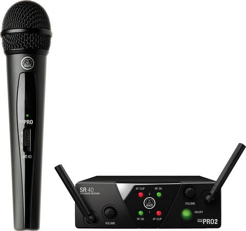 Langaton mikrofonisetti AKG WMS40 Mini Vocal Set ism3, kiinteä taajuus (864.850MHz)