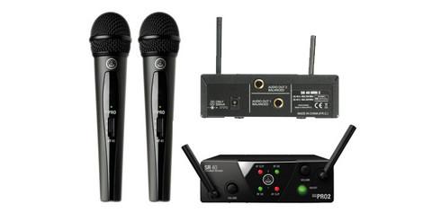 Langaton mikrofonisetti AKG WMS30 Mini2 Vocal set ism2/3  (864.375MHz/ 864.850MHz)