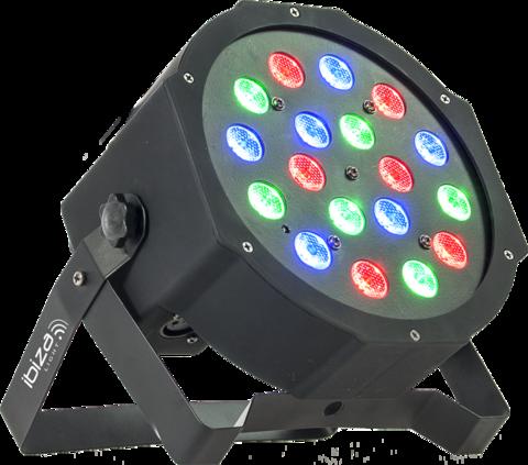 Valospotti Parled181 Ibiza Par RGB 18W langattomalla kaukosäätimellä