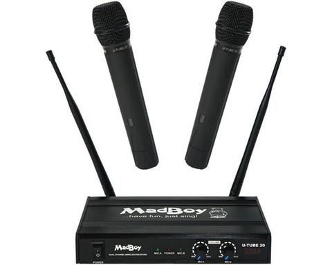 Langaton mikrofonisetti Madboy U-tube 20 + 2 mikrofonia