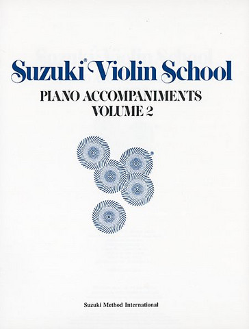 Viulukoulu Suzuki 2 piano accompaniments