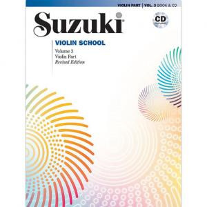 Viulukoulu Suzuki violin school volume 3 + cd Revised Edition