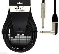 Instrumenttijohto plugi/kulmaplugi 6m Alpha Audio Pro Line