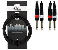Instrumenttijohto 2*plugi/2*plugi 6m Alpha Audio