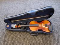 Viulusarja 3/4 Sonata YHV-100, Korealainen, jousi, kotelo, hartsi