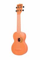 Ukulele sopraano Kala Waterman fluorescent orange