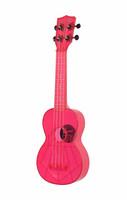 Ukulele sopraano Kala Waterman fluorescent pink