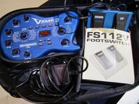 Myydään asiakkaan lukuun multiefekti kitaralle Behringer V-2 (käyt) Kotelo, muuntaja sekä pedaali