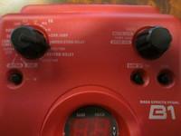 Multiefekti bassolle Zoom B1(käyt), sis muuntaja sekä soundikortti